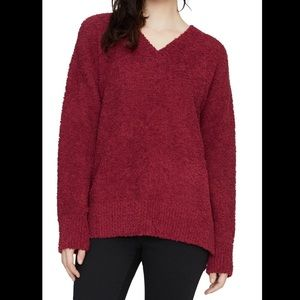 NWT Sanctuary V-neck Teddy Sweater, Large